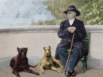 Otto-Leopold Bismarck, Prince of Bismarck (1815-1898). German Statesman. Bismarck in Friedrichruhe