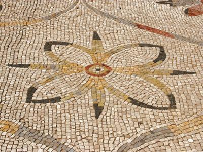 Roman Mosaic, Floral Decoratio, Ostia Antica, Italy