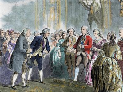 Statesman and Scientist. Franklin at Louis Xvi and Marie Antoinette, Paris, France