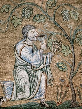 Byzantine Art, Noah Drinking Wine Mosaic, Baptistery of St. Mark's Basilica, Venice, Italy by Prisma