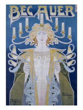 Bec Auer, Belgium, 1896 by Privat Livemont