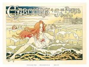 Paris Swimmers, Art Nouveau, La Belle Époque by Privat Livemont
