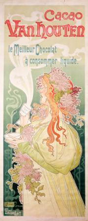 Poster Advertising Cacao Van Houten, Belgium, 1897 by Privat Livemont