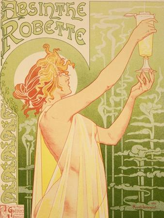 Reproduction of a Poster Advertising 'Robette Absinthe', 1896 by Privat Livemont