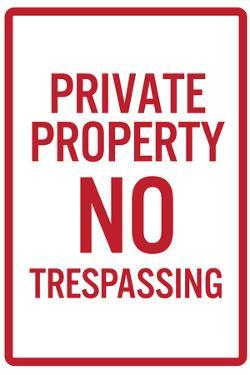 Private Property No Trespassing Sign Poster