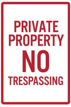 Private Property No TrespassingPoster