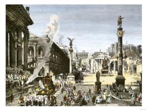 Procession in the Forum Romanum, Ancient Rome