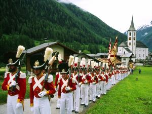 Procession of God's Grenadiers, Kippel, Switzerland