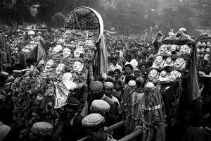 Procession of Gods on Kulu Dassera Festival, Himachal Pradesh India, 1982