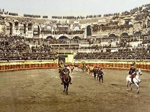 Procession of Matadors at the Amphitheatre in Nîmes, 1890-1900