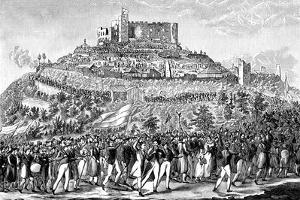 Procession to Hambach Castle on 27th May 1832
