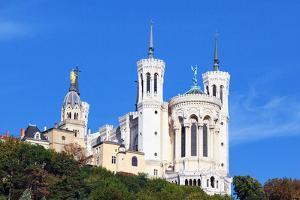 Basilica of Notre-Dame De Fourviere in Lyon by prochasson