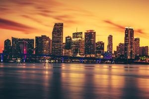 City of Miami at Sunset by prochasson