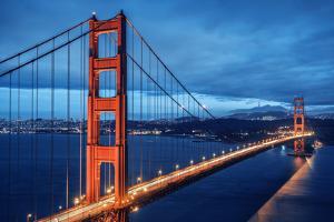 Golden Gate Bridge, Blue Hour by prochasson