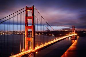 Night Scene with Golden Gate Bridge by prochasson