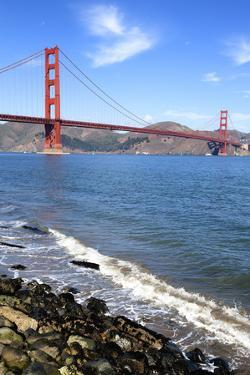 Vertical View of Famous Golden Gate Bridge by prochasson