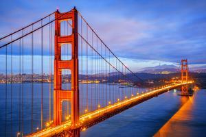 View of Famous Golden Gate Bridge by Night by prochasson