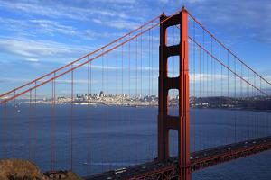 View of Famous Golden Gate Bridge by prochasson