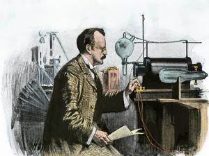 Professor J. J. Thomson in His Laboratory