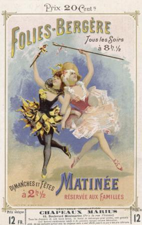 Programmes a Programme Cover for the Famous Folies Bergere Cabaret in Paris