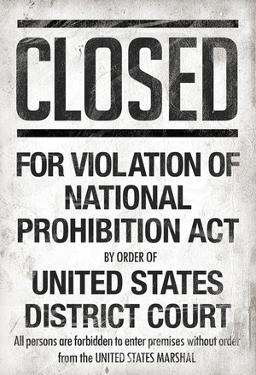 Prohibition Act Closed Notice