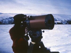 Project Member Leif Havik Tests Observational Equipment, at Vaarhus Kjoelen, Norway