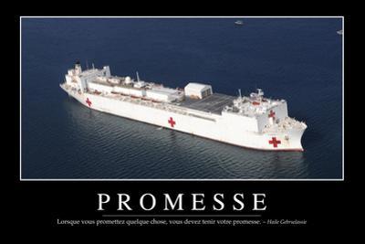 Promesses: Citation Et Affiche D'Inspiration Et Motivation