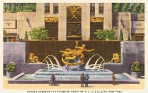 Prometheus Fountain, Rockefeller Center, New York City