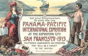 Promotion for Panama-Pacific Exposition, San Francisco, California