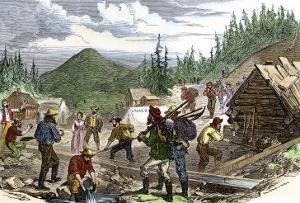 Prospectors Working the Gregory Gold Diggings in the Colorado Rockies, May 1859
