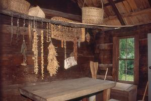 Provisions Drying at Restored Farmstead, Great Smoky Mountains National Park, North Carolina