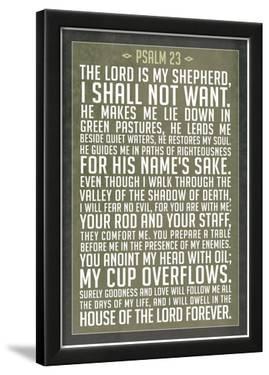 Psalm 23 Prayer Art Print Poster