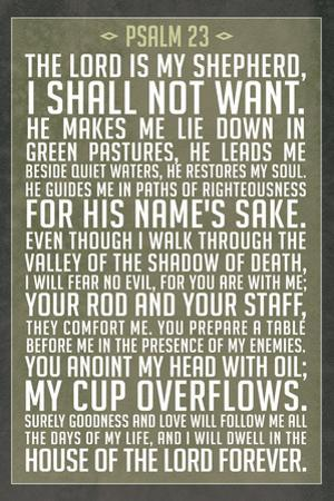 Psalm 23 Prayer Plastic Sign