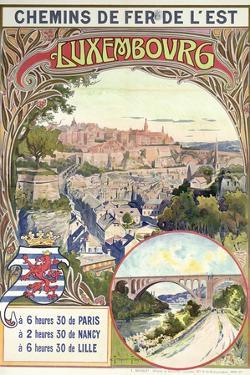Poster Advertising Luxembourg, C.1900 by pseudonym of Trinquier Trinquier-Trianon