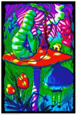 Psychedelic Alice (Non-Flocked Blacklight)