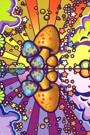 Psychedelic Mushroom Art Poster Print