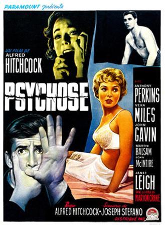 Psycho, (aka Psychose), Belgian Poster Art, 1960