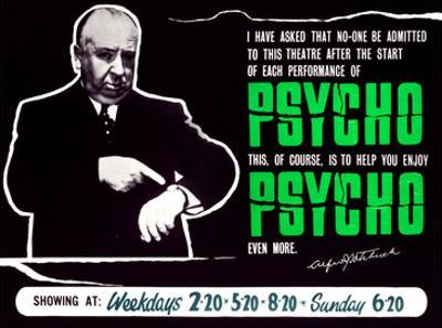 Psycho, Director Alfred Hitchcock On A British Quad, 1960