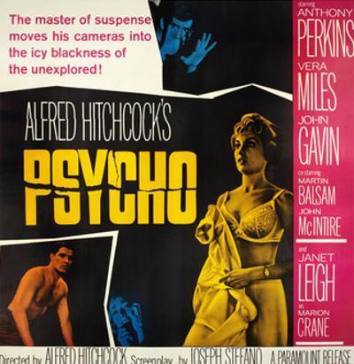 Psycho, Top: Anthony Perkins, Bottom from Left: John Gavin, Vera Miles, Janet Leigh, 1960
