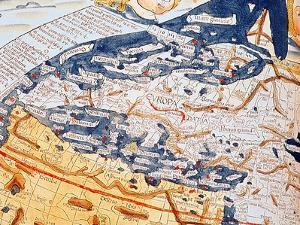 Map of Central Europe, 1486 (Coloured Engraving) (Details of 157909) by Ptolemy