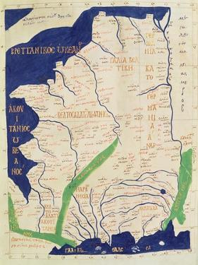 Map of France, from Geographia by Ptolemy
