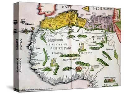 Map of North Africa and West Africa, Published in Strasbourg in 1522 by Ptolemy