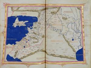 Map of Phoenicia, Mesopotamia and Babylon by Ptolemy