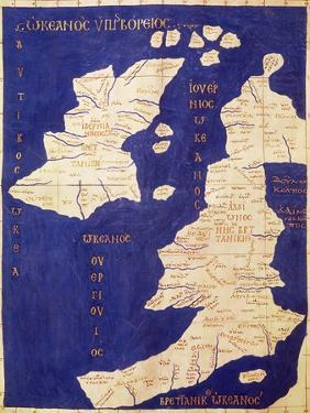 Map of the British Isles, from Geographia by Ptolemy