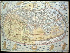 Map of the World, Based on Descriptions and Co-ordinates Given in 'Geographia' by Ptolemy