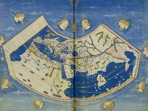 Map of the World with the Twelve Winds by Ptolemy