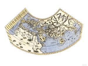 Ptolemy's Map of the World, Illustrating a Concept of the Flat Earth