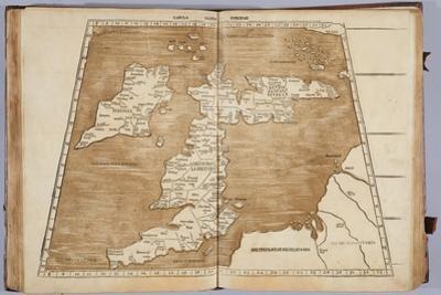 Tabula Prima Europa, from 'Geographie Opus Novissima Traductione E Grecorum Archetypis… by Ptolemy