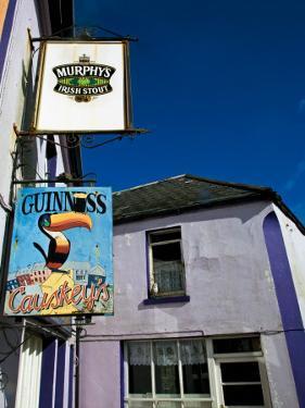 Pub Signs, Eyeries Village, Beara Peninsula, County Cork, Ireland