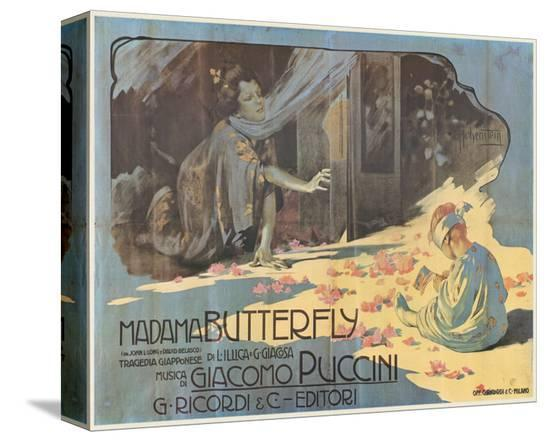 Puccini, Madama Butterfly-Adolfo Hohenstein-Stretched Canvas Print